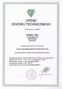 Certificato UDT